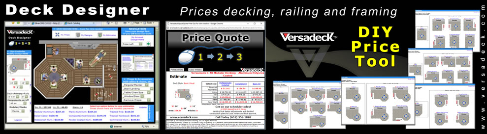 Aluminum decking and railing by versadeck high for Deck planner tool
